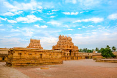 View of the entrance tower at Hindu Brihadishvara Temple, India, Stock Photos