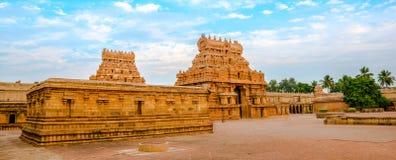 View of the entrance tower at Hindu Brihadishvara Temple, India, Stock Image