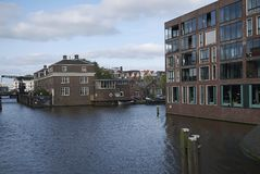 View of Entrepotdok canal royalty free stock images
