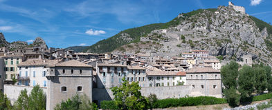 View on Entrevaux Stock Photography