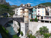 View on Entrevaux Royalty Free Stock Photos