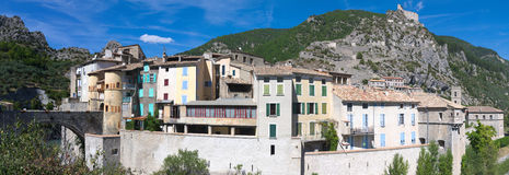 View on Entrevaux. View on medieval cite of Entrevaux in Province, France Royalty Free Stock Photo