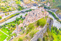 View Entrevaux, South of France Stock Photography