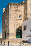 View of the entry arch of the Cathedral of Faro located in Faro, Stock Photos
