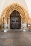 View of the entry arch of the Cathedral of Faro located in Faro, Royalty Free Stock Image