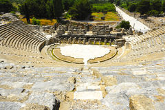 View Of Ephesus Ancient City Amphitheatre Stock Images
