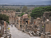A view Ephesus Main Street Royalty Free Stock Image