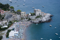 View Erchie ciry in Amalfi coast Stock Photography