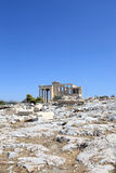 View of Erechtheum ancient Greek temple Royalty Free Stock Images