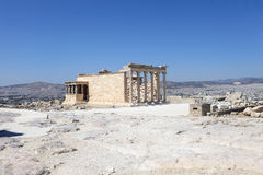 View of Erechtheum greek temple Royalty Free Stock Photo