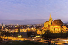 View on Erfurt city in Germany Royalty Free Stock Photo