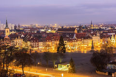 View on Erfurt city in Germany Royalty Free Stock Photography