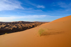 View of Erg Chebbi Dunes -  Sahara Desert  Stock Image