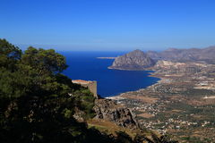 View from Erice (Sicily) Stock Image