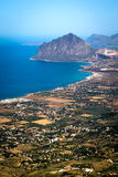 View from Erice. vertical Royalty Free Stock Photos
