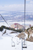 View on Erzurum from skilift in Palandoken Royalty Free Stock Photography