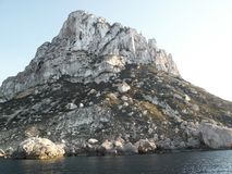 View of Es Vedra island stock images