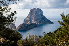 A view of Es Vedra Stock Images