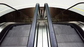 View from the escalator down in the mall. View from the second floor without people Royalty Free Stock Photo
