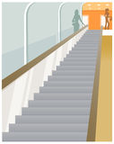 The view of Escalator Royalty Free Stock Photos