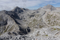 View from Eselstein peak to Dachstein massif, Austria Royalty Free Stock Photos