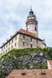 View of the Český Krumlov Castle and Castle Tower Royalty Free Stock Photo