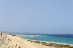 View of Esmeralda beach in Fuerteventura, Canary Islands, Spain. View of Esmeralda beach in Fuerteventura, Canary Islands, Spain stock photography
