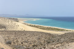 View of Esmeralda beach in Fuerteventura, Canary Islands, Spain. View of Esmeralda beach in Fuerteventura, Canary Islands, Spain royalty free stock photos