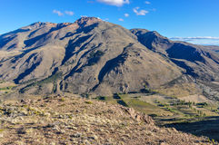 View of Esquel, Argentina. View from the top of the mountain, Esquel, Patagonia, Argentina stock photography