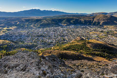 View of Esquel, Argentina. View from the top of the mountain, Esquel, Patagonia, Argentina royalty free stock photo