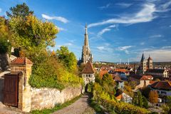 Esslingen am Neckar, Germany, scenic view of the medieval town center Royalty Free Stock Images