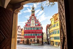 Esslingen am Neckar, Germany, scenic view of the medieval town center Stock Images