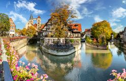 Esslingen am Neckar, Germany, scenic view of the medieval town center Royalty Free Stock Image