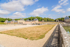View estate of Vaux-le-Vicomte, France Royalty Free Stock Image