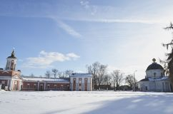 The estate in Yaropolets near Volokolamsk, owned by Zagryazhsky, which was twice visited by Pushkin. View of the estate in Yaropolets near Volokolamsk, owned by royalty free stock photography