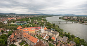 View from Esztergom Basilica, Esztergom, Hungary Royalty Free Stock Photography