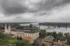 View from Esztergom Basilica. In Hungary Stock Images