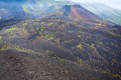 View on Etna craters, Sicily Stock Photography