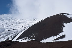 View of Etna volcano. Royalty Free Stock Images