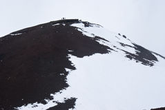 View of Etna volcano. Stock Photo