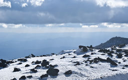 View of Etna volcano. Stock Images
