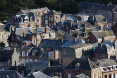 View of Etretat. Cote d'Albatre, Pays de Caux, Seine-Maritime department, Upper Normandy region, France Royalty Free Stock Photos