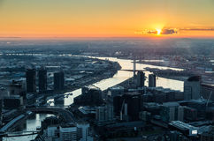 View from Eureka Tower towards Bolte Bridge, Melbourne Stock Photography