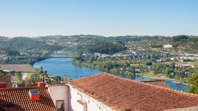 View of the Europe Bridge in Coimbra Royalty Free Stock Images