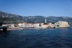 View of european city Budva, Montenegro Stock Photography