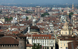 View of a European metropolis with many roofs Stock Photo