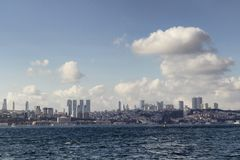 View of the European side of Istanbul stock images