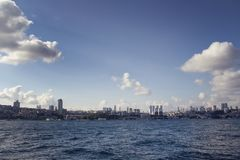 View of the European side of Istanbul stock photo