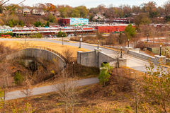View of Evelyn Street NE in Piedmont Park, Atlanta, USA Stock Images