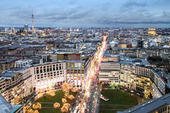 View of the evening Berlin with TV tower in the distance Royalty Free Stock Images